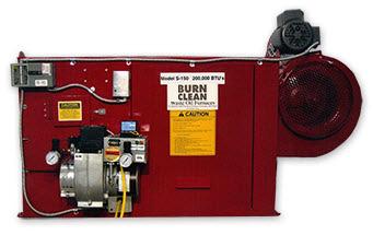 Wedco Burn Clean Used Waste Oil Furnaces Rudbeck Mfg